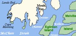 Mould Bay close up map