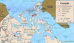 Map Of Resolute Bay Canada Resolute Bay, Arctic Weather Station, Nunavut.