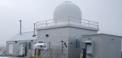 Resolute weather station close up